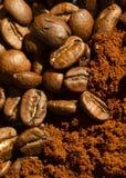 豆咖啡宏指令射击 库存照片