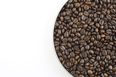 豆咖啡平底锅 库存图片