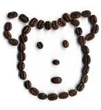 豆咖啡微笑 免版税库存图片