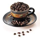 豆咖啡杯烘烤 免版税图库摄影