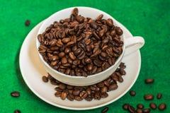豆咖啡杯白色 库存图片