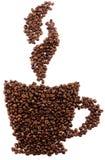 豆咖啡杯表单 免版税库存照片