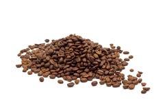 豆咖啡查出的白色 库存照片