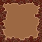 豆咖啡框架 免版税库存图片