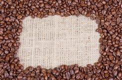 豆咖啡框架 图库摄影