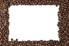 豆咖啡框架 免版税库存照片