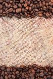 豆咖啡框架 免版税图库摄影