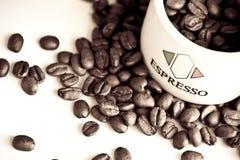 豆咖啡浓咖啡 免版税图库摄影