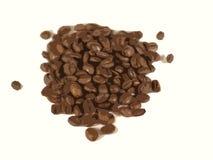 豆咖啡溢出了 免版税库存图片