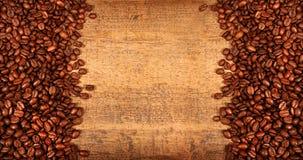 豆咖啡烤土气木头 库存图片