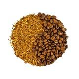 豆咖啡粒 库存照片
