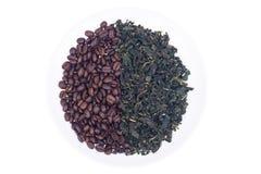 豆咖啡绿茶 免版税图库摄影