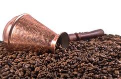豆咖啡老罐 免版税图库摄影