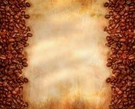 豆咖啡老羊皮纸 图库摄影
