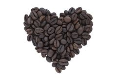 豆咖啡重点做形状 图库摄影