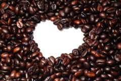 豆咖啡重点形状 图库摄影