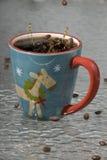 豆咖啡飞溅 图库摄影