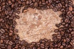 豆咖啡食物框架构成系列 免版税库存照片