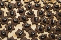 豆圣诞节咖啡曲奇饼 免版税库存照片