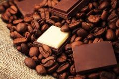 豆巧克力混合 免版税库存照片