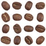 豆无缝咖啡的模式 免版税库存图片