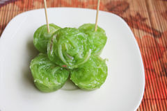 豆椰子泰国点心的类似 免版税库存照片