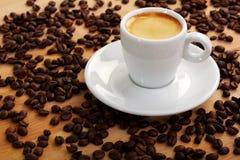 豆浓咖啡 免版税库存照片