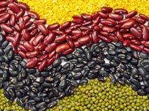 豆混合物,豌豆背景 库存照片