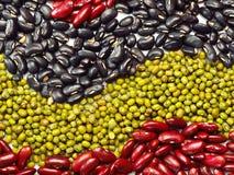 豆混合物,豌豆背景 免版税库存图片