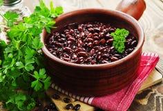 豆炖煮的食物 库存图片