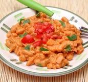 豆炖煮的食物 免版税库存图片