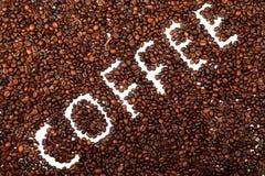 豆烤了咖啡 特写镜头 免版税库存图片