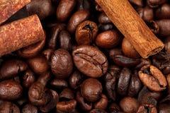 豆烤了咖啡 特写镜头 库存图片