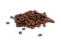 豆特写镜头咖啡 库存图片