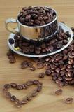 豆盖帽咖啡 免版税库存图片