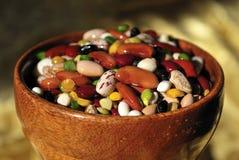 豆碗五颜六色混杂木 库存照片