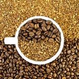 豆空白咖啡杯的谷物 库存照片