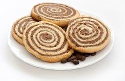 豆空白无奶咖啡的曲奇饼 库存图片