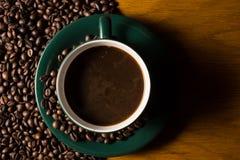 豆空白coffe杯子理想菜单 库存图片