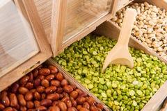 豆类架子界面 免版税库存照片