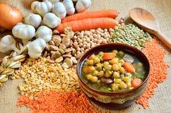 豆类汤 免版税库存图片