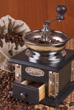 豆粗麻布咖啡碾烤大袋 库存照片