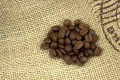 豆粗麻布咖啡 图库摄影