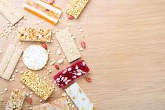 豆糖果和甜点Mawlid Halawa的汇集 库存图片