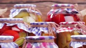 豆红萝卜花椰菜食物自然字符串蔬菜 影视素材