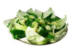 豆绿色土豆沙拉 免版税图库摄影