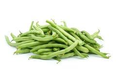 豆绿色堆荚 免版税库存照片
