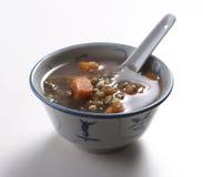豆绿色汤 库存照片