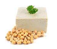 豆腐和大豆 免版税库存照片