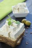 豆腐希腊白软干酪 库存图片